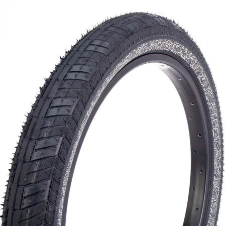 Fiction Atlas 2.4 Black with Night Moves Reflective Silver BMX Tire