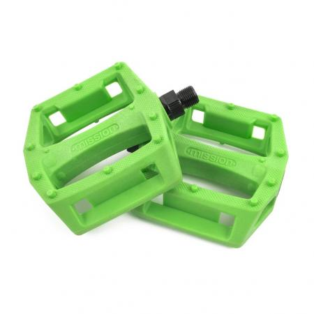 Mission Impulse green PC pedals